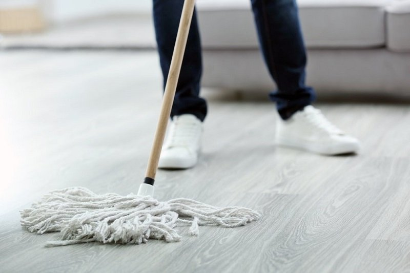how to clean basement floor
